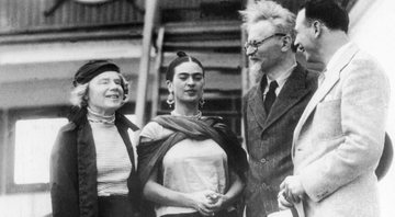 Natália Sedova, Frida Kahlo, Trótski e Diego Rivera, respectivamente - Getty Images