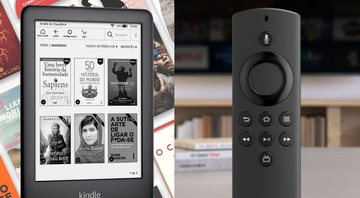 Kindle e Fire TV Stick Lite, respectivamente - Divulgação / Amazon