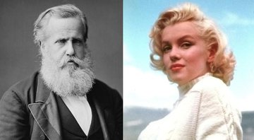 Dom Pedro II e Marilyn Monroe, respectivamente - Creative Commons