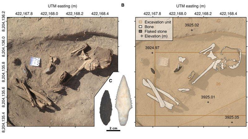 Pesquisadores acham ossos e ferramentas de caçadores  no Peru de 9 mil anos atrás