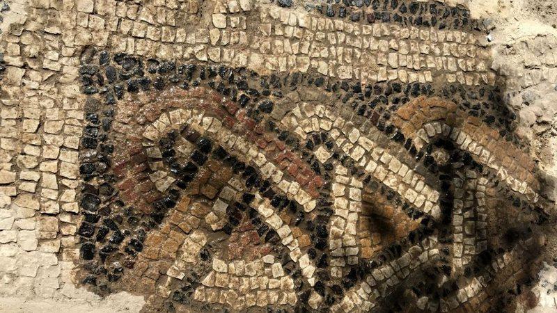 Mosaico encontrado no sul da Espanha