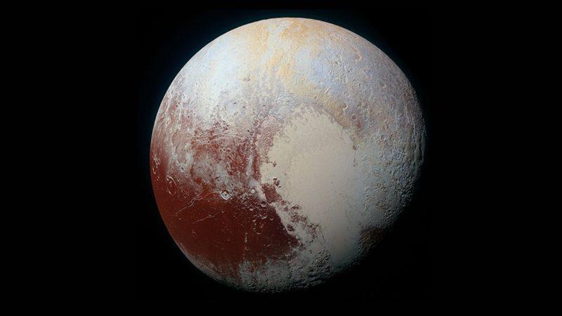 Imagem de satélite de Plutão