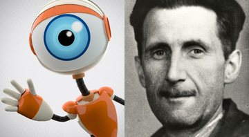 Logotipo do reality Big Brother e retrato do escritor George Orwell - Creative Commons