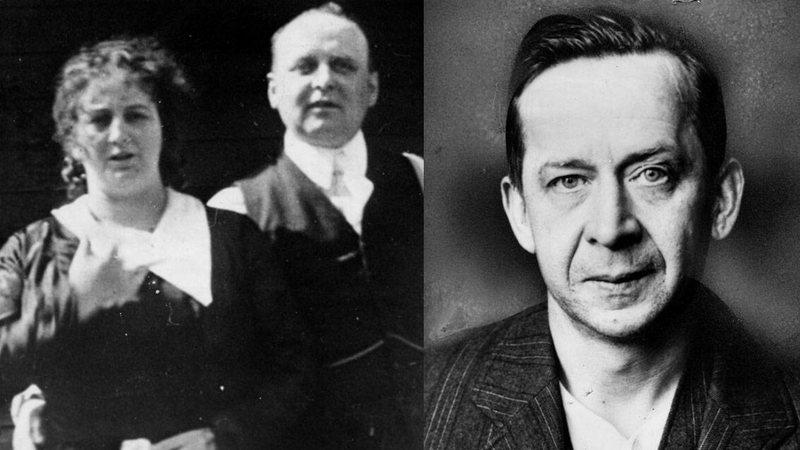 Dolly Oesterreich e o marido Fred e ao lado, foto do amante, Otto Sanhuber
