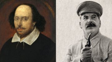 Retratos de Shakespeare e Stalin respectivamente - Creative Commons