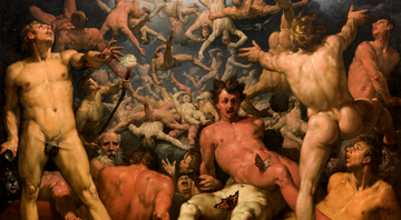 The fall of the titans - Cornelis Van Haarlem