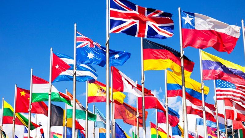 Bandeiras de países ao redor do mundo