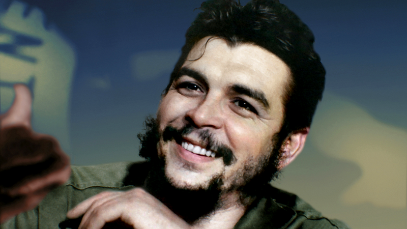 Retrato do revolucionário Che Guevara, colorizado artificialmente