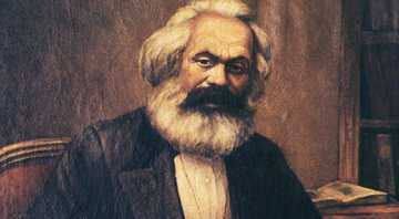 Pintura mostra Karl Marx - Getty images