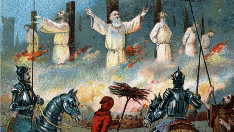 Jacques de Molay, último grão-mestre dos cavaleiros templários, foi queimado na fogueira em 1314