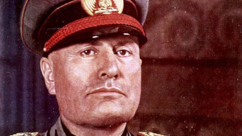 O fascista Benito Mussolini