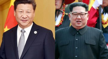 Xi Jiping (China) e Kim Jong-un (Coreia do Norte) - Wikimedia Commons