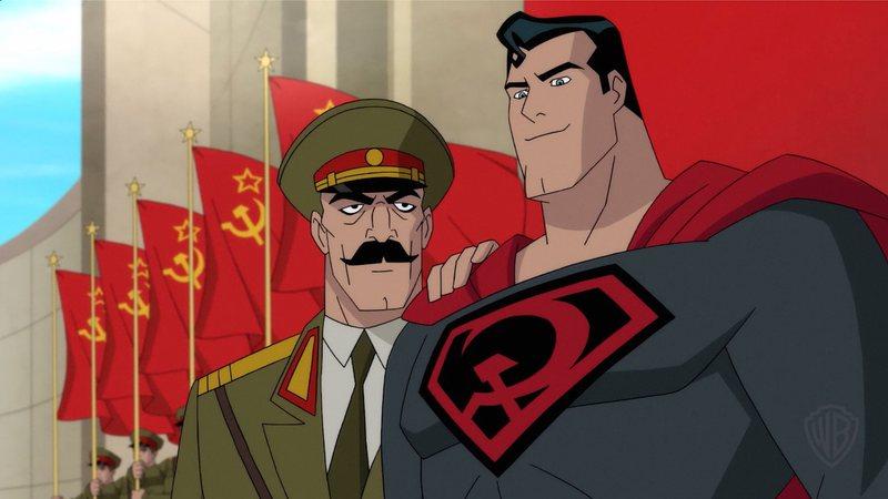 """Imagem divulgada pela DC Comics do filme animado inspirado na HQ """"Superman — Entre a Foice e o Martelo"""""""