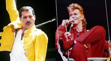 Freddie Mercury e David Bowie, respectivamente - Getty Images - Wikimedia Commons