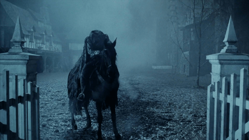 Cena do filme Sleepy Hollow (1999), de Tim Burton