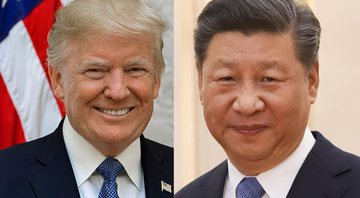 O presidente dos Estados Unidos, Donald Trump e o presidente da China, Xi Jinping - Wikimedia Commons