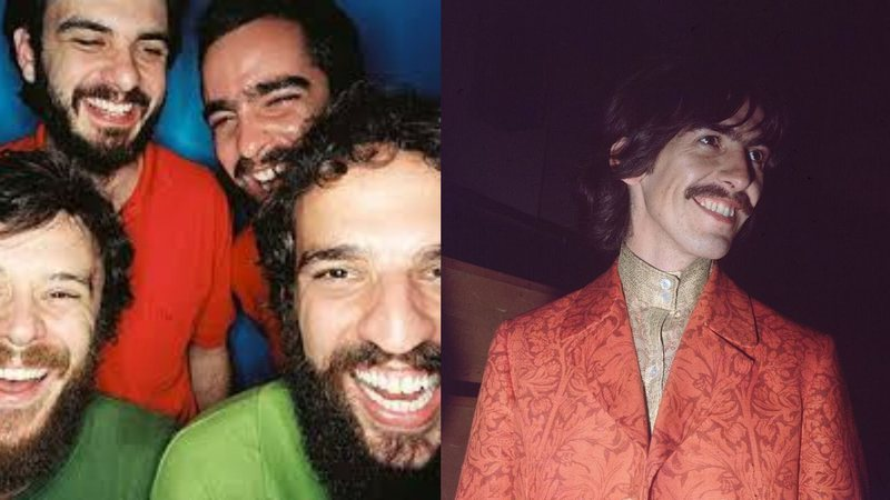 A banda Los Hermanos e o ex-Beatle George Harrison
