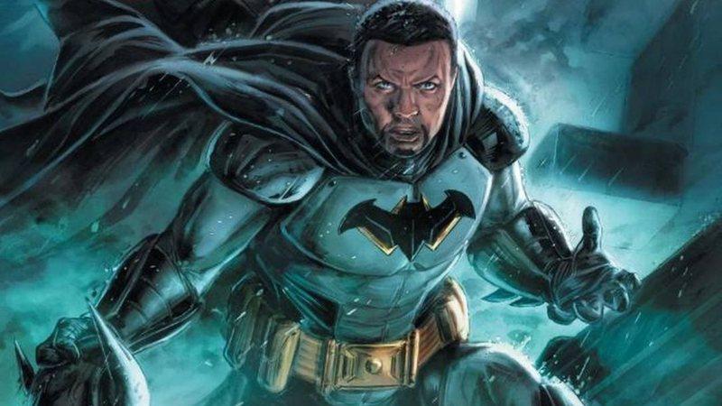 Desenho mostrando o novo Batman negro