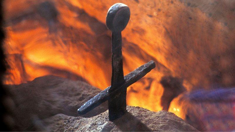 Espada de São Galgano, enfincada em uma pedra