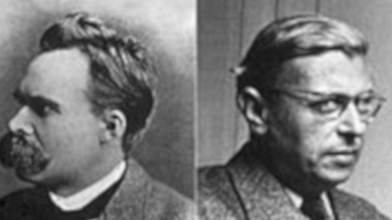 Sartre e Nietzsche, considerados os precursores do existencialismo