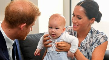 Harry, Archie e Meghan - Getty Images