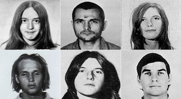Seis dos seguidores de Charles Manson, participantes do assassinato - Wikimedia Commons