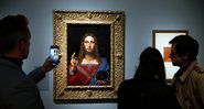 Quadro Salvatore Mundi de Leonardo da Vinci - Getty Images