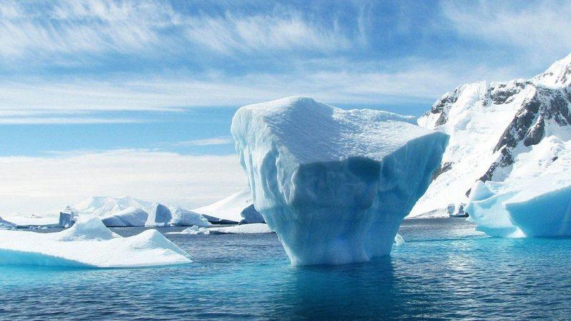 Imagem meramente ilustrativa de um local repleto de gelo
