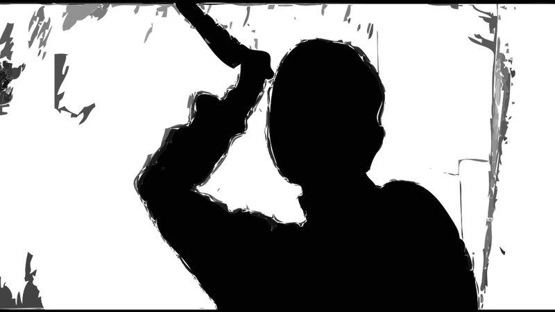 Imagem ilustrativa de uma pessoa segurando uma faca
