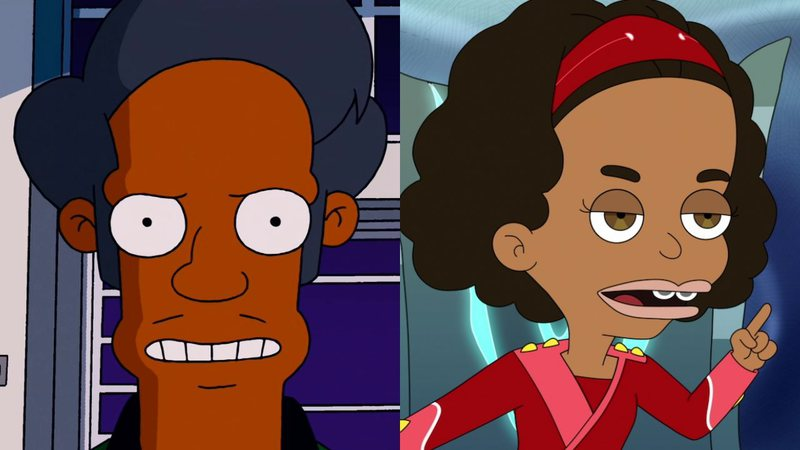 Apu (Os Simpsons) e Missy (Big Mouth)