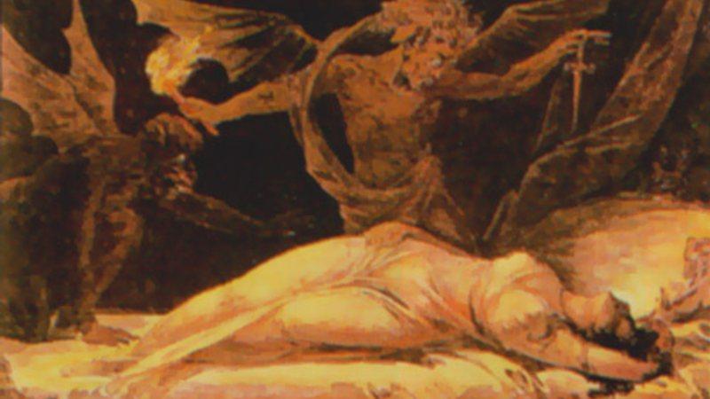 Pintura representando um íncubo