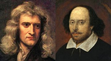 Respectivamente, Isaac Newton e William Shakespeare - Creative Commons