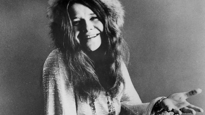 A icônica Janis Joplin, Rainha do Rock
