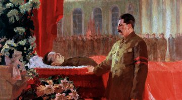 Pintura retratando encontro de Stalin com cadáver de Kirov - Getty Images