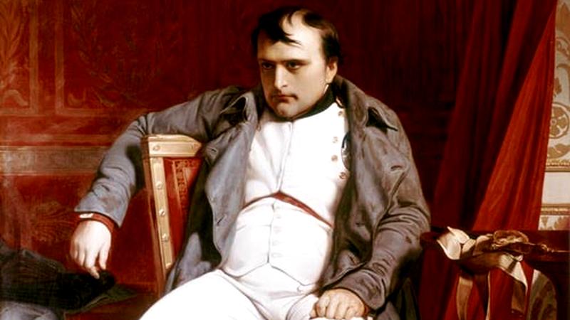 Por que se fala na posição em que Napoleão perdeu a guerra?
