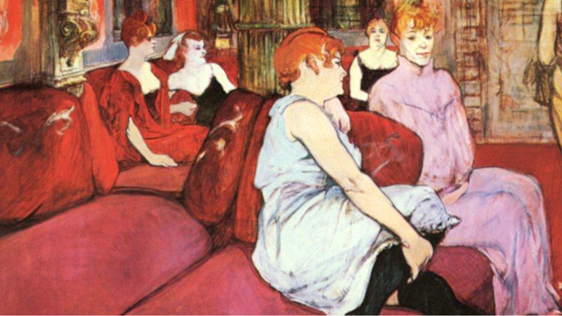Representação de prostitutas por Henri de Toulouse-Lautrec (1894)