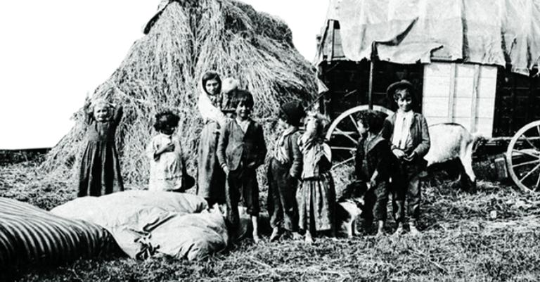 Ciganos na antiga Checoslováquia em 1890