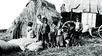 Ciganos na antiga Checoslováquia em 1890 - Scheufler Collection