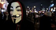 A famosa máscara de Guy Fawkes - Getty Images