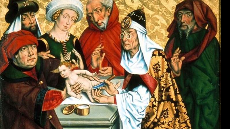 O quadro 'Circuncisão de Jesus' por Friedrich Herlin
