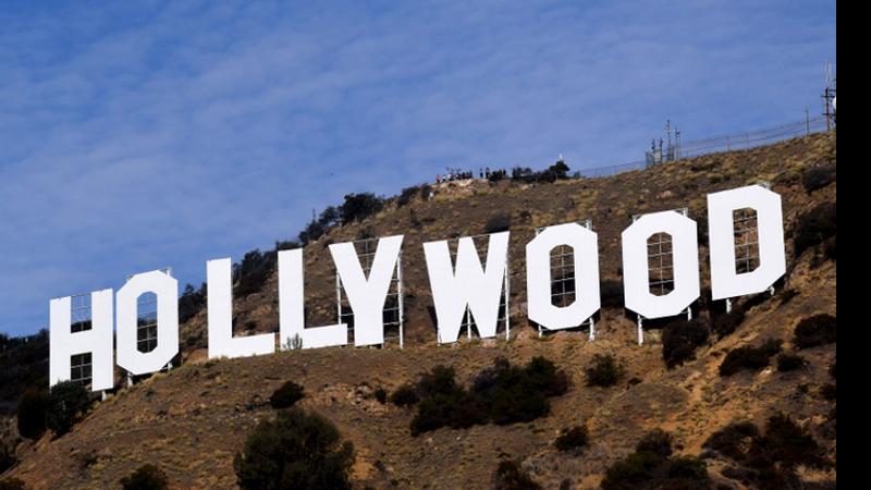 O famoso letreiro de Hollywood