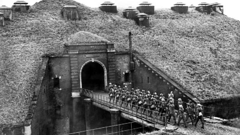 Um forte da linha Maginot, na França.