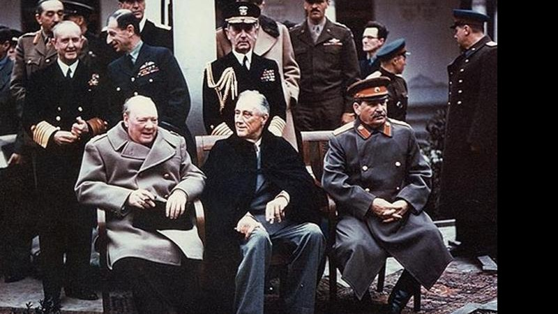 Churchill, Roosevelt e Stalin
