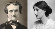 Respectivamente os escritores Edgar Allan Poe e Virginia Woolf - Creative Commons