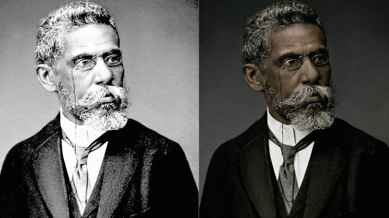 """Colorização feita pela Faculdade Zumbi de Palmares para o projeto  """"Machado de Assis Real"""""""