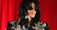 "Michael em coletiva anunciando a turnê ""This Is It"" - Getty Images"