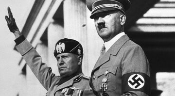 Os líderes Benito Mussolini e Adolf Hitler - Getty Images