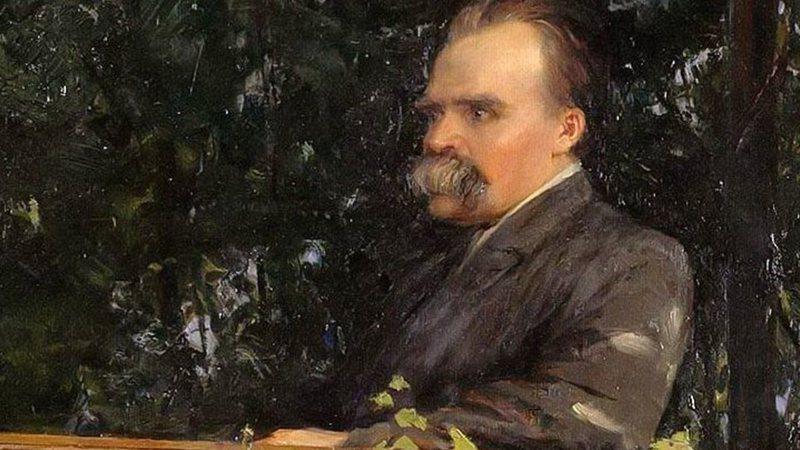 Retrato de Friedrich Nietzsche (1844-1900), pelo artista Stoeving