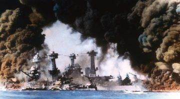 Ataque de Pearl Harbor colorizado - Getty Images