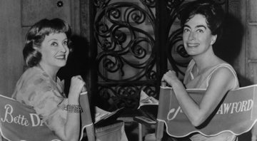 Bette Davis e Joan Crawford em set de filmagens - Wikimedia Commons